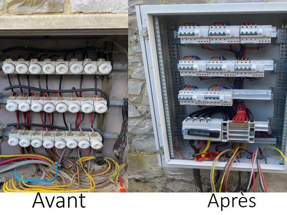 installation électrique avant après